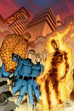 Fantastic Four No.510 Cover: Mr. Fantastic, Invisible Woman, Human Torch, Thing and Fantastic Four Photo by Mike Wieringo