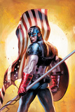 Ultimate Origins No.2 Cover: Captain America Affiches par Gabriele DellOtto