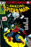 Amazing Spider-Man No.194 Cover: Spider-Man and Black Cat Bilder av Al Milgrom