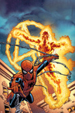 Fantastic Four No.512 Cover: Human Torch and Spider-Man Posters by Mike Wieringo