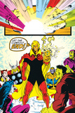 Infinity Gauntlet No.6 Group: Adam Warlock, Thanos, Thor and Hulk Fighting Poster by George Perez