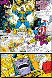 Infinity Gauntlet No.4 Group: Thanos, Captain America and Drax The Destroyer Photo by George Perez