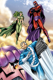 Civil War: House Of M No.2 Group: Magneto, Polaris and Quicksilver Prints by Andrea Di Vito