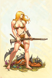 Shanna, The She-Devil No.4 Cover: Shanna The She-Devil Posters by Frank Cho