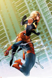 Ms. Marvel No.47 Cover: Ms. Marvel and Spider-Man Posters by Pasqual Ferry