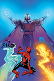 Ultimate Spider-Man No.119 Cover: Spider-Man, Firestar, Iceman and Magneto Posters by Stuart Immonen