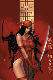 Elektra The Hand No.1 Cover: Elektra Fighting Posters by Bill Sienkiewicz