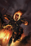 Ghost Rider No.20 Cover: Ghost Rider Fighting Plakaty
