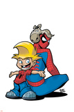 Gus Beezer & Spiderman No.1 Cover: Gus Beezer and Spider-Man Prints by  Gurihiru