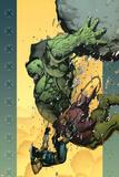 Leinil Francis Yu - Ultimate Wolverine vs. Hulk No.6 Cover: Hulk and Wolverine Plakát