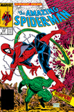 Amazing Spider-Man No.318 Cover: Spider-Man and Scorpion Poster by Todd McFarlane
