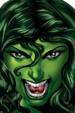 She-Hulk No.25 Cover: She-Hulk Print by Shawn Moll
