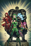 Exiles No.2 Cover: Polaris, Scarlet Witch and Blink Posters by Dave Bullock