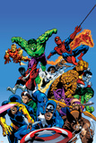 Secret Wars Cover: Captain America Affiches par Mike Zeck