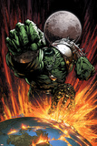 World War Hulk No.1 Cover: Hulk Flying Posters by David Finch