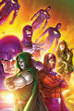 Doctor Doom and The Masters of Evil No.4 Cover: Dr. Doom, Magneto and Sentinel Poster by Roger Cruz