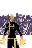 The Immortal Iron Fist No.6 Cover: Iron Fist, Randall and Orson Charging Pósters por David Aja