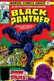 Jack Kirby - Black Panther No.7 Cover: Black Panther Fighting Obrazy