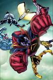 Nova No.24 Group: Gladiator, Warstar, Earthquake, Manta, Flashfire and Electron Affiche par Andrea Di Vito
