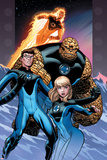 Ultimate Fantastic Four No.60 Cover: Invisible Woman, Mr. Fantastic, Thing and Human Torch Prints by Ed McGuinness