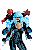 Spider-Man And The Black Cat No.6 Cover: Spider-Man and Black Cat Póster por Terry Dodson