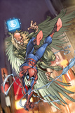 Marvel Age Spider-Man No.1 Cover: Spider-Man and Vulture Photo by Mark Brooks