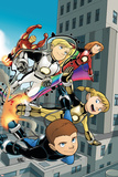 Iron Man And Power Pack No.4 Cover: Lightspeed, Mass Master, Zero-G and Energizer Posters by  Gurihiru