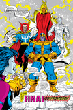 Infinity Gauntlet No.5 Group: Thanos, Dr. Strange, Silver Surfer, Adam Warlock and Nebula Crouching Posters by George Perez