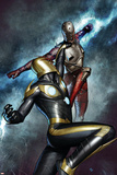 Nova No.3 Cover: Nova and Penance Prints by Adi Granov