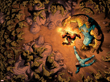 Ultimate Fantastic Four No.5 Group: Thing, Human Torch, Mr. Fantastic and Moloids Posters by Adam Kubert