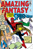 Amazing Fantasy No.15 Cover: Spider-Man Swinging Affischer av Steve Ditko