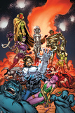 Exiles No.4 Cover: Forge, Jocasta, Machine Man, Ultron and Vision Fighting Posters by Dave Bullock