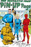 The Fantastic Four No.15: Mr. Fantastic, Invisible Woman, Human Torch, Thing and Fantastic Four Print by Jack Kirby