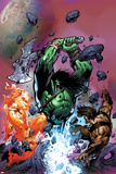 War of Kings: Savage World of Skaar No.1 Cover: Skaar, Starbolt and Gorgon Poster by Paul Pelletier