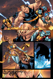 New Warriors No.2 Group: Wolverine, Colossus, Blob, Wind Dancer and Surge Prints by Paco Medina