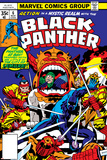 Jack Kirby - Black Panther No.7 Cover: Black Panther Charging Obrazy