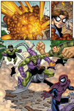 Marvel Adventures Spider-Man No.12 Group: Spider-Man, Green Goblin, Sandman and Doctor Octopus Print by Mike Norton