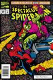 The Spectacular Spider-Man No.200 Cover: Spider-Man and Green Goblin Smashing Prints by Sal Buscema