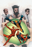 Powerless No.6 Cover: Wolverine, Daredevil, Matt Murdock, Spider-Man, Peter Parker, Logan Prints by Steve MCNiven