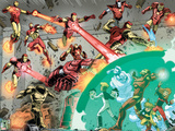 Iron Man And Power Pack No.4 Group: Lightspeed, Mass Master, Zero-G, Energizer and Iron Man Prints by Marcelo Dichiara