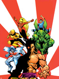 The Official Handbook Of The Marvel Universe Teams 2005 Group: Sunfire Kunstdruck von Gus Vazquez