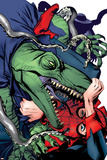 Spider-Man 1602 No.4 Cover: Lizard and Spider-Man Pósters por Michael Golden