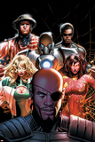 Squadron Supreme No.5 Cover: Nick Fury, Arcanna, Old Soldier, Biogeneral, Ruggles, Nell and Blur Posters by Greg Land