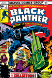 Black Panther No.4 Cover: Black Panther, Princess Zanda, Little and Abner Fighting Prints by Jack Kirby