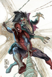 The Amazing Spider-Man No.622 Cover: Spider-Man and Morbius Print by Simone Bianchi