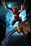 Ms. Marvel Annual No.1 Cover: Spider-Man and Ms. Marvel Plakater av Greg Horn