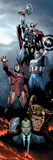 Siege No.1 Cover: Iron Man, Captain America and Thor Affiches par Olivier Coipel