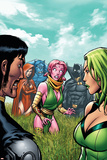 Exiles No.6 Cover: Blink, Polaris, Scarlet Witch, Black Panther and Beast Prints by Salvador Espin