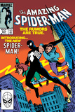 Amazing Spider-Man No.252 Cover: Spider-Man Swinging Print by Ron Frenz