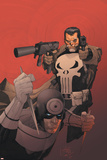 Punisher Vs. Bullseye No.3 Cover: Punisher and Bullseye Prints by Leinil Francis Yu